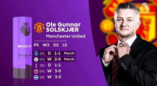 Ole Gunnar Solskjaer wins Premier League manager for the month of June