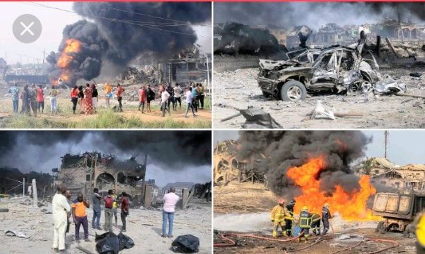 Inferno of Gas Explosion in Ajao Estate Lagos