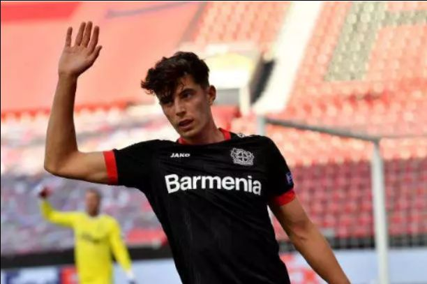Kai Havertz waves goodbye to Leverkusen and fans as Rudiger says we are expecting you soon after Europa game