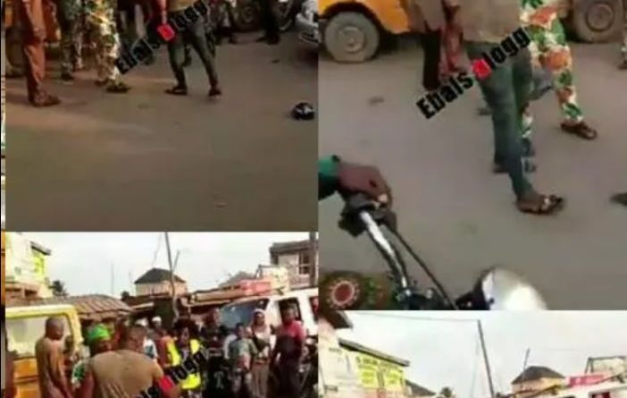 Viral video of a man beating up police woman in Lagos