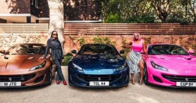 Nigerians react as Femi Otedola reveals why he gifted his 3 daughters with new Ferrari