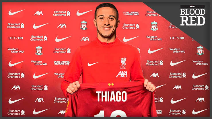 Liverpool completed signing of Thiago Alcantara from Bayern Munich