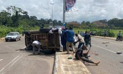 BREAKING: Three police officers died on road accident, after rushing to stop end Sars protest at Akure