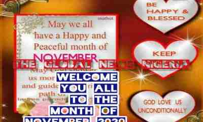 Happy New Month Messages, Wishes, Quotes and Prayers for November 2020