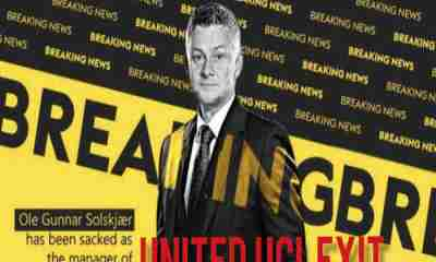 RB Leipzig 3-2 Manchester United: Fans Ask Ole Gunnar To Leave As #OleOut Trend On Twitter Over United UCL Exit