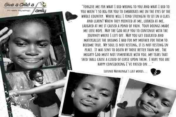 Lufuno Mavhungu touching letter to her parents before committed suicide