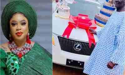 Bobrisky gifts father new Lexus RX 350 on his birthday