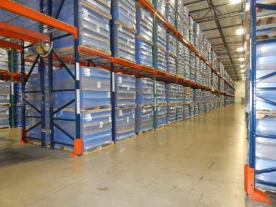 Pallet Display Climate Controlled Warehouse Storage Cartoning