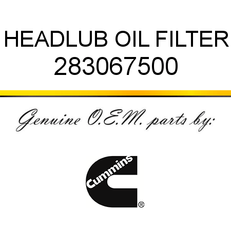 283067500 HEAD,LUB OIL FILTER (2830675) fit CUMMINS 4B3.9