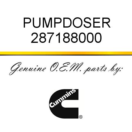 287188000 PUMP,DOSER (2871880, 2871880NX, 2871880RX) fit