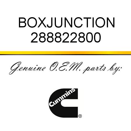 288822800 BOX,JUNCTION (2888228) fit CUMMINS 4B3.9, 6B5.9