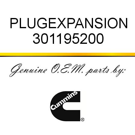 301195200 PLUG,EXPANSION (3011952) fit CUMMINS 4B3.9, 6B5