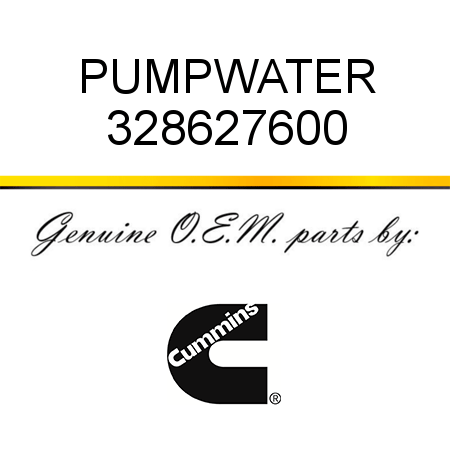 328627600 PUMP,WATER (3286276, 3286276RX) fit CUMMINS 4B3