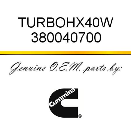 380040700 TURBO,HX40W (3800407, 3800407RX) fit CUMMINS 6C8