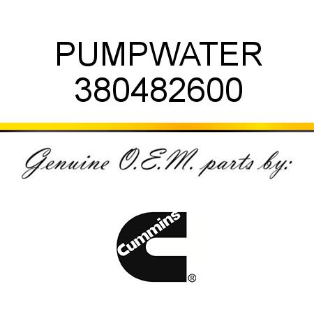 380482600 PUMP,WATER (3804826, 3804826RX) fit CUMMINS 4B3