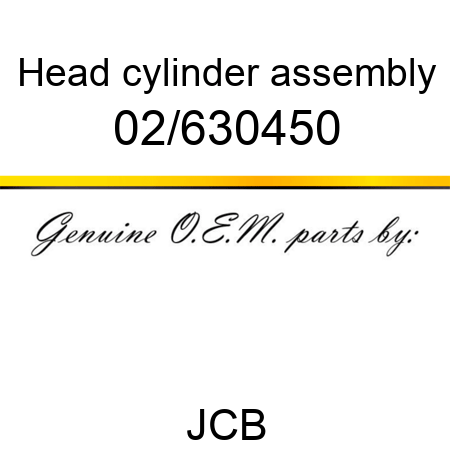 02/630450 Head, cylinder assembly fit JCB 803 PLUS, 8027