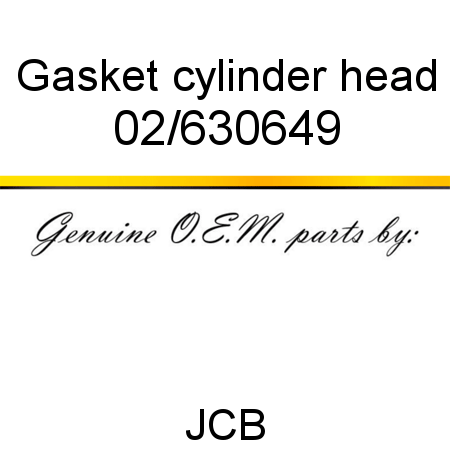 02/630649 Gasket cylinder head fit JCB MICRO 8008