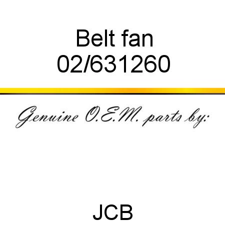 02/631260 Belt, fan fit JCB 803, 8014, 8018, 8014, 8017