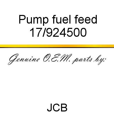 17/924500 Pump, fuel feed fit JCB JS180, JS130, JS175W