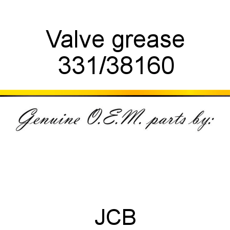 331/38160 Valve, grease fit JCB MICROT2, MICRO PLUS, MICRO