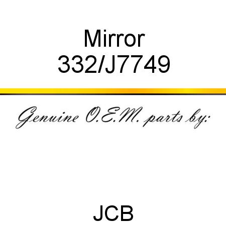 332/J7749 Mirror fit JCB JS290, JS200W T3, JS130W T3