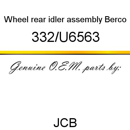 332/U6563 Wheel, rear idler assembly, Berco fit JCB ROBOT