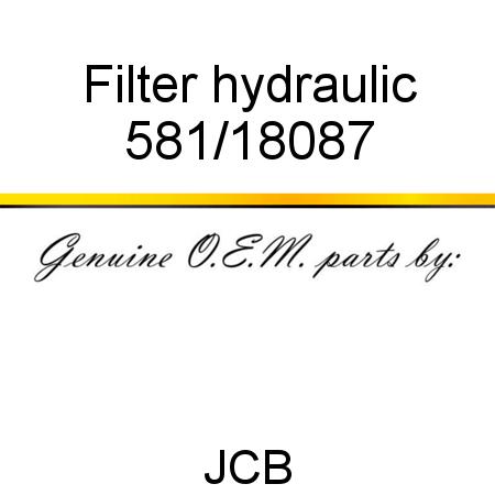 581/18087 Filter, hydraulic fit JCB RTFL9402T2, 926 4WD