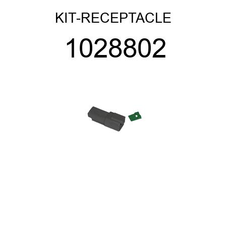 1028802 RECEPTACLE (2-PIN) KIT (3E-3365, 3E3365, 3E3364