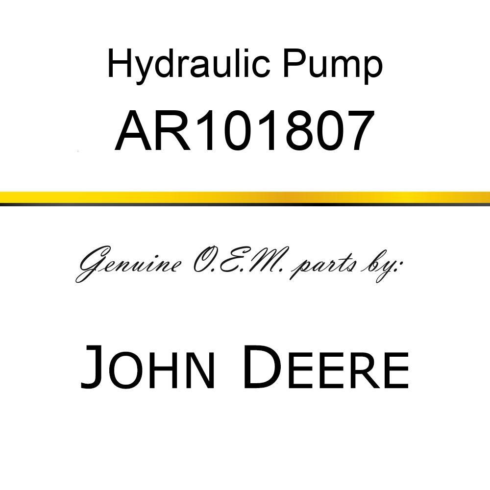 AR101807 Hydraulic Pump JOHN DEERE OEM part Power train