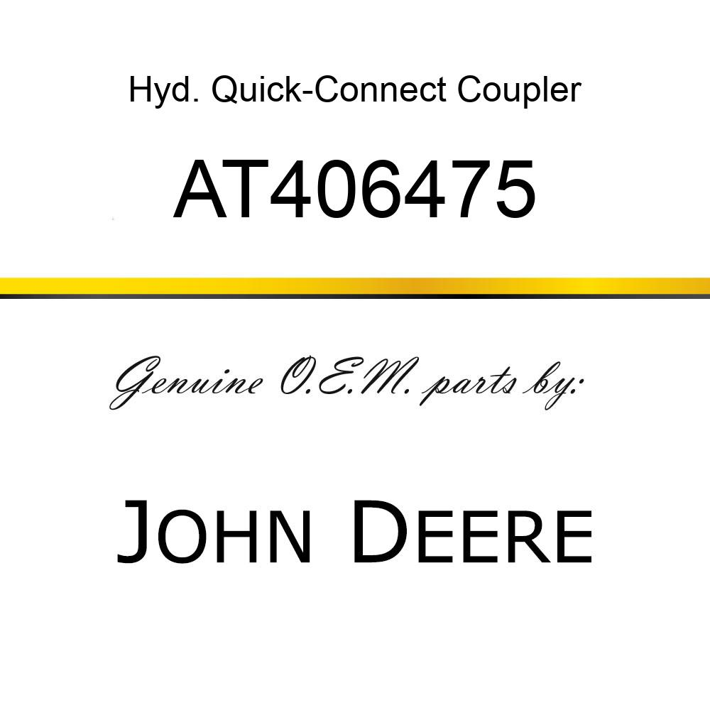 AT406475 Hyd. Quick-Connect Coupler JOHN DEERE OEM part