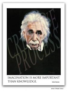 Albert Einstein portrait by Frank Szasz.