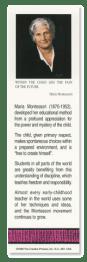 Maria Montessori bookmark