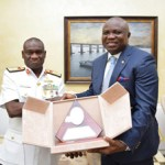 (Photonews) Governor Ambode visits Chief of Naval Staff, Rear Admiral Usman Jibrin at the Defence HQ, Abuja
