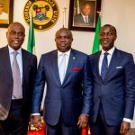 Gov. Ambode receives Managing Director, Access Bank,  Mr. Herbert Wigwe and his team