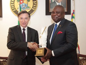 The French Ambassador to Nigeria, Mr Denys Gauer