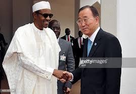 President Muhammadu Buhari and UN Secretary General, Ban Ki-Moon