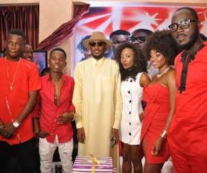 3.L-R, Airtel One Mic stars, Jay Dreamz, Acetune; Brand Ambassador, Airtel, Tuface Idibia; Airtel Trace Music Star winner, Jitey Peterz, One Mic winners, Zorah and LACE at the One Mic All-Stars album launch/Tuface's 40th birthday party held in Lagos recently