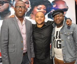 4.	Chief Sales Officer, Airtel Nigeria, Godfrey Efeurhobo; Managing Director, Trace Music TV, Nigeria, Sam Onyemelukwe with Regional Operations Director, Lagos Region, Airtel Nigeria, Oladokun Oye during the Airtel One Mic All-Stars album launch/Tuface's 40th birthday celebration