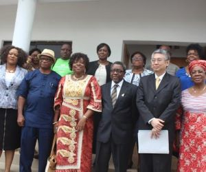 (L-R): Chairman House Committee on Education, Hon Vivian Okadigbo, Manging Director/CEO, Anambra State Investment Promotion and Protection Agency (ANSIPPA), Chief Joe Billy Ekwunife, Hon Commissioner for Education, Prof Kate Omenugha, Chief of Staff to the Governor, Prof Joe Asike and Ambassador Kingdom of Thailand, His Excellency Mr. Chailert Limsomboon and Facilitator of the visit, Professor Uche Amazigo during visit to Government House Awka