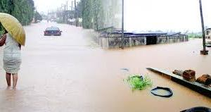 Flooded streets of Benin City