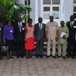 (Photonews) Governor Umahi receives National Identity Management Commission, Transmission Company of Nigeria teams in Abakiliki