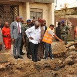 (Photonews) Gov. Okezie Ikpeazu of Abia State at more projects sites