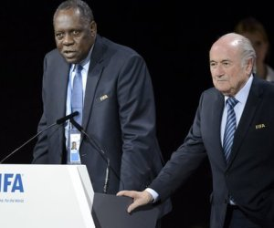 Issa Hayatou and Sepp Blatter