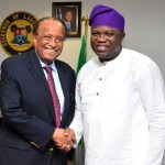 (Photonews) Ambassador Walter Carrington visits Gov. Ambode at Lagos House, Ikeja