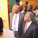 (Photonews) VP Osinbajo tours Shell's exhibition stand at NESG, Abuja