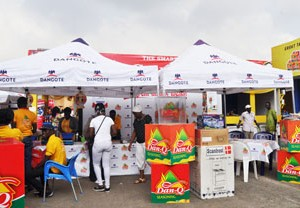 Dangote's stand at the trade fair