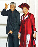 (File photo) Late Nelson Mandela with wife Graca Machel