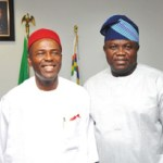 (Phtonews) Gov. Ambode receives Minister of Science & Technology, Onu in Ikeja