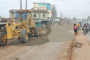 Ongoing rehabilitation of the Alfa Nla/Capitol Road, Agege by Lagos State Government on Tuesday