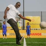 #makethefuture programme: Shell, Akon unveil Africa's first human, solar-powered football pitch in Lagos